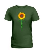 Christian Faith Cross Sunflower T-Shirt Ladies T-Shirt thumbnail