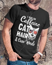 I Run on Caffeine Cat Hair Classic T-Shirt lifestyle-mens-crewneck-front-4