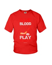 Give Blood Play Hockey Shirt Youth T-Shirt thumbnail
