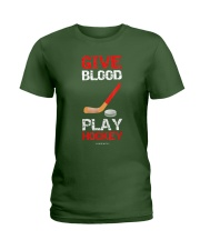 Give Blood Play Hockey Shirt Ladies T-Shirt thumbnail