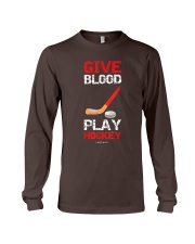 Give Blood Play Hockey Shirt Long Sleeve Tee thumbnail