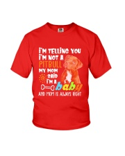 A Pitbull Dog Mom T-shirt Youth T-Shirt thumbnail