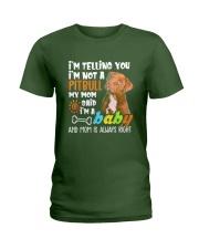 A Pitbull Dog Mom T-shirt Ladies T-Shirt thumbnail