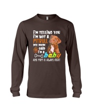 A Pitbull Dog Mom T-shirt Long Sleeve Tee thumbnail