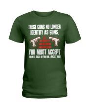 These Guns No Longer Identify As Guns  Ladies T-Shirt thumbnail