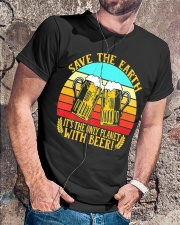 Save The Earth Its The Only Planet With Beer Classic T-Shirt lifestyle-mens-crewneck-front-4