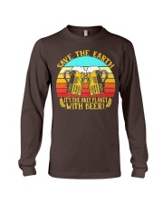 Save The Earth Its The Only Planet With Beer Long Sleeve Tee thumbnail