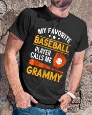 My Favorite Baseball Player Calls Me Grammy Tshirt Classic T-Shirt lifestyle-mens-crewneck-front-4