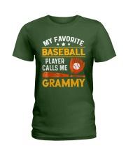 My Favorite Baseball Player Calls Me Grammy Tshirt Ladies T-Shirt thumbnail