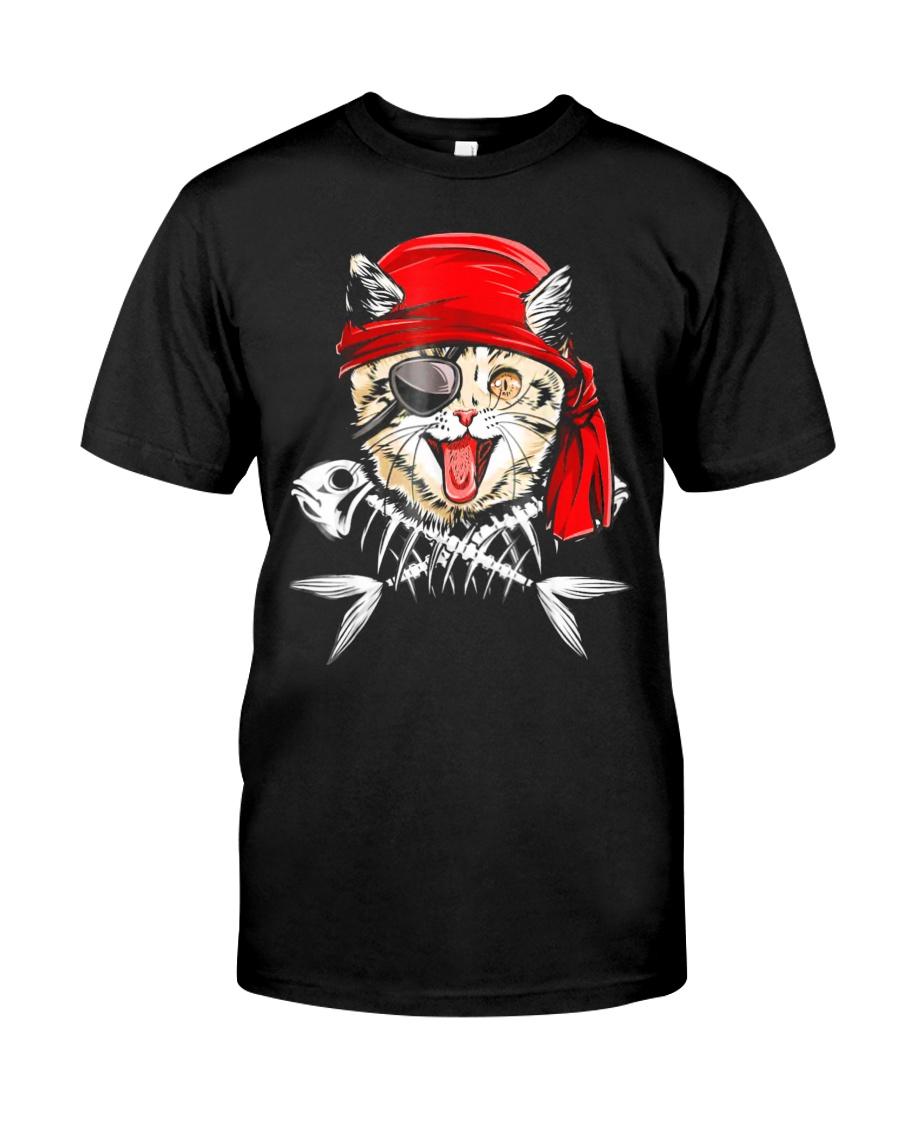 Cat Pirate T shirt Classic T-Shirt