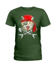 Cat Pirate T shirt Ladies T-Shirt thumbnail