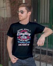 Ice Hockey Girls Shirt Classic T-Shirt lifestyle-mens-crewneck-front-2