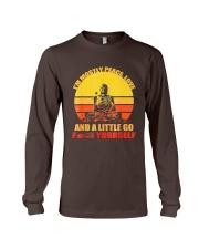 Buddha Yoga Buddhism Zen T-Shirt Long Sleeve Tee thumbnail