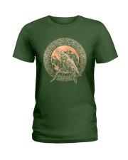 ODIN'S RAVENS VIKING T-SHIRT Ladies T-Shirt thumbnail