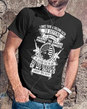 AMERICAN Oath Defend The Constitution Army Veteran Classic T-Shirt lifestyle-mens-crewneck-front-4