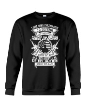 AMERICAN Oath Defend The Constitution Army Veteran Crewneck Sweatshirt thumbnail
