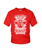 AMERICAN Oath Defend The Constitution Army Veteran Youth T-Shirt thumbnail