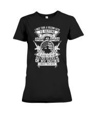 AMERICAN Oath Defend The Constitution Army Veteran Premium Fit Ladies Tee thumbnail