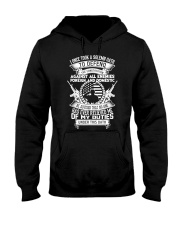 AMERICAN Oath Defend The Constitution Army Veteran Hooded Sweatshirt thumbnail