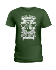 AMERICAN Oath Defend The Constitution Army Veteran Ladies T-Shirt thumbnail
