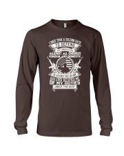 AMERICAN Oath Defend The Constitution Army Veteran Long Sleeve Tee thumbnail