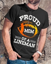 Proud Mom Of A Football Lineman T-Shirt Classic T-Shirt lifestyle-mens-crewneck-front-4