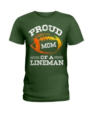 Proud Mom Of A Football Lineman T-Shirt Ladies T-Shirt tile