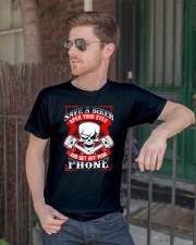 Motorcycle Awareness T-Shirt Save a Biker Classic T-Shirt lifestyle-mens-crewneck-front-2