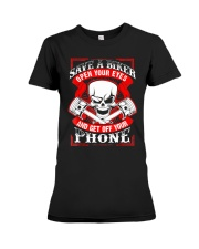 Motorcycle Awareness T-Shirt Save a Biker Premium Fit Ladies Tee thumbnail
