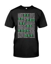 Nerdy Geeky Algebra Teacher Classic T-Shirt front