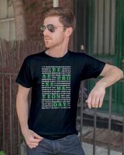 Nerdy Geeky Algebra Teacher Classic T-Shirt lifestyle-mens-crewneck-front-2