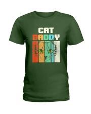 Retro Cat Daddy Ladies T-Shirt thumbnail