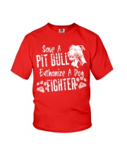 Save A Pitbull Euthanize A Dog Fighter Youth T-Shirt thumbnail