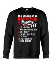 6 Stages of Marathon Running T-Shirt Crewneck Sweatshirt thumbnail