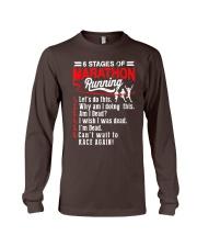 6 Stages of Marathon Running T-Shirt Long Sleeve Tee thumbnail