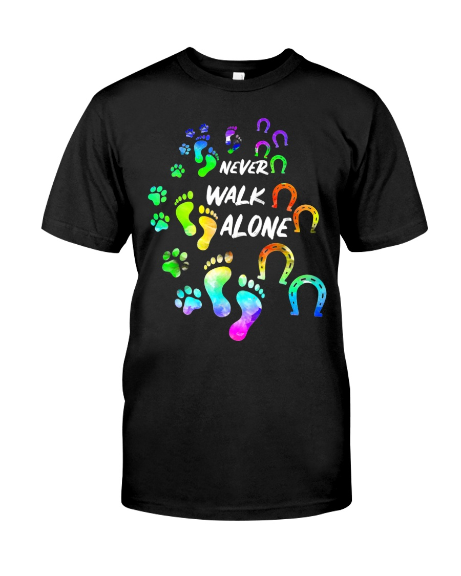 Never Walk Alone Tshirt Horse And Dog  Classic T-Shirt