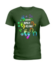Never Walk Alone Tshirt Horse And Dog  Ladies T-Shirt tile