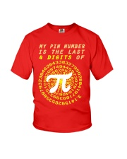 My Pin Number Is The Last 4 Digits Of Pi Number Youth T-Shirt thumbnail