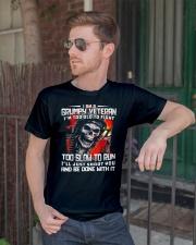 I Am A Grumpy Veteran I'm Too Old To Fight T-shirt Classic T-Shirt lifestyle-mens-crewneck-front-2