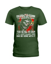 I Am A Grumpy Veteran I'm Too Old To Fight T-shirt Ladies T-Shirt thumbnail