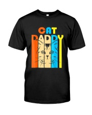 Retro Vintage Daddy CAT T-Shirt Classic T-Shirt front