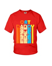 Retro Vintage Daddy CAT T-Shirt Youth T-Shirt thumbnail