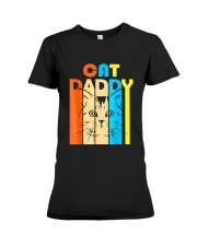 Retro Vintage Daddy CAT T-Shirt Premium Fit Ladies Tee thumbnail
