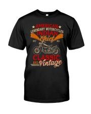 Motorcycle Indian Biker Tee Vintage America TShirt Classic T-Shirt front