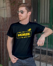 Horse Lover T Shirt May The Horse Be With You Classic T-Shirt lifestyle-mens-crewneck-front-2