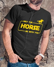 Horse Lover T Shirt May The Horse Be With You Classic T-Shirt lifestyle-mens-crewneck-front-4
