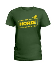 Horse Lover T Shirt May The Horse Be With You Ladies T-Shirt thumbnail