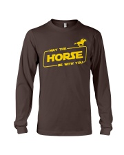 Horse Lover T Shirt May The Horse Be With You Long Sleeve Tee thumbnail