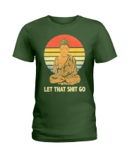 Let That Shit Go Buddha Vintage Ladies T-Shirt thumbnail