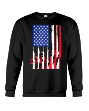 American Flag Gun Support T-Shirt  Crewneck Sweatshirt thumbnail